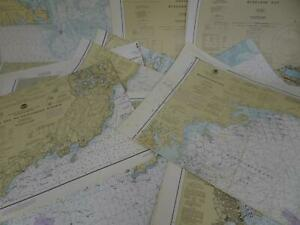 Lot 19 Massachusetts MA NOAA Nautical Navigational Maps Charts 1970s to 1980s