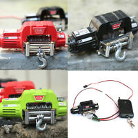 RCRUN 1/10 RC Simulation Metal Winch +Controller For Axial SCX10 RC4WD D90 TRX-4