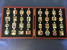 More details for princess diana danbury mint collection pin lot complete set x 32 in wooden case.