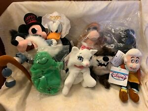 Lot of 8 Disney Store Mini Bean Bag Plush-Jungle Book, Taz, Mickey, Flubber