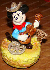 Cowboy Mickey Mouse (Walt Disney Characters by Schmid) Revolving Music Box