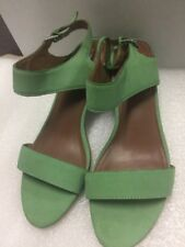 Matiko Strap Buckle Sandal Size 8 US  in Mint Green Leather NEW