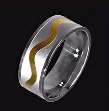 Unisex Modeschmuck-Ringe aus Edelstahl mit Beauty-Thema