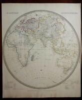 Eastern Hemisphere Religions of the World c. 1840 SDUK detailed antique map