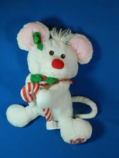 Vintage Fisher Price Christmas Mouse 8036 Puffalumps White Plush Toy Stuffed