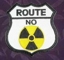 RADIATION SYMBOL PATCH ROUTE 66 SIGN PATCH UFO'S BIOHAZARD EPIDEMIC