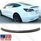 For 17-20 Tesla Model 3 -OE Carbon Fiber Rear Trunk Lip Performance Spoiler Wing