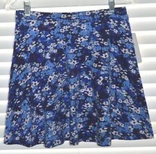 Blue Floral Fun Skirt by Lily White NWT Medium