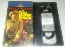The Texas Chainsaw Massacre 2 Vhs Movie-Time Horror Release Plays Excellent