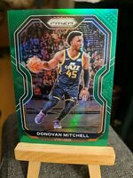 2020-2021 NBA Panini Prizm Donovan Mitchell GREEN PRIZM PARALLEL #67 Utah Jazz