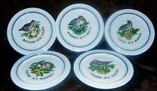 Porcelaine d'Auteuil Chasse Création Jacques Lobjoy 5 ASSIETTES SEMI CREUSES