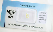 Diamant 0,54ct Natural Fency, Yellow SI2 Oval Brilliant IGI Zertifikat Sealed