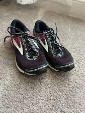 Size 7.5 - Brooks Ghost 10 Black/Pink/ Athletic Running Shoes Flawed- Paint