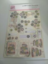 2X 3D SHEETS FOR  CARDS 30X21 CM NEW//NO SCISSORS NEED A240 YVONNE CREATIONS