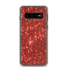 Samsung Case decorated with red glitter