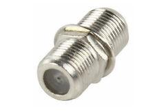F-plug Connector Joiner Adaptor Barrel Screw Type  Female Pack Of 50