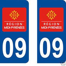 stickers autocollants plaques immatriculation auto Département Ariège 09