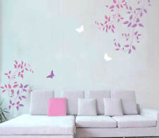 Budding Clematis Vine Wall Stencils - 3pc kit, Easy DIY Wall decor with stencils