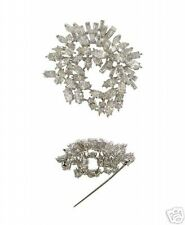 Estate 18Kt White Gold 12ct TW Diamond Pin Brooch