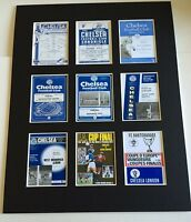 """CHELSEA FC RETRO POSTERS 14"""" BY 11"""" PICTURE MOUNTED READY TO FRAME"""
