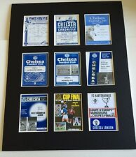 "CHELSEA FC RETRO POSTERS 14"" BY 11"" PICTURE MOUNTED READY TO FRAME"
