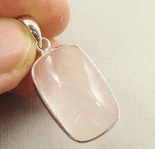 Cuarzo Rosa Piedras preciosas semipreciosas 925 Colgante De Plata-D70