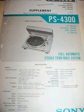 SONY PS-4300 SERVICE MANUAL NICE!