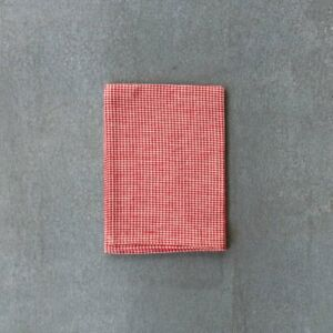 Fog Linen Work Tea Towel, Red and White Small Check