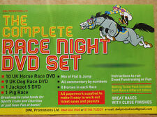 THE COMPLETE RACE NIGHT DVD HORSE RACING SET -WITH 30 PER RUNNER PAD TICKETS