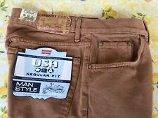 Pantalone uomo jeans marrone chiaro Carrera tg 48 size 33 con lampo cerniera