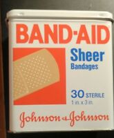 Tin Band Aid Box, Vintage
