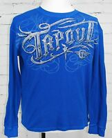 TAPOUT Men's Long-Sleeve Thermal Shirt Blue 100% Cotton size XL