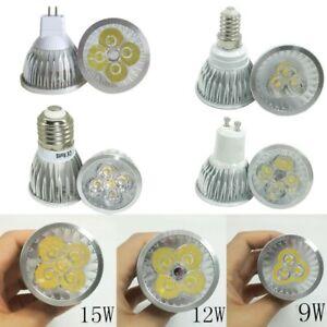 MR16 E27 GU10  led bulb 9W 12w 15w spotlight lampada lamp Warm/Cool White 12v