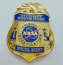 NASA US SPECIAL AGENT METAL BADGE COSPLAY BROOCH COLLECTION GOLD ARM BADGE PIN