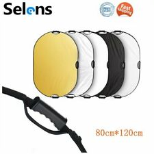 80*120cm Multi Collapsible Oval Light Reflector Diffuser for Photography Studio