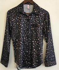 Victoria's Secret blue gray pink leopard pattern pajama top Size X Small