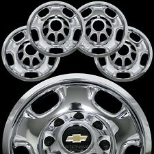"4 Chevy Silverado 2500 3500 HD 17"" 8 Lug CHROME Wheel Skins Rim Covers Hub Caps"