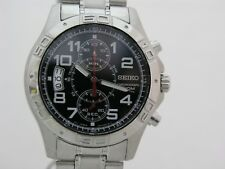 Seiko men watch 7T94 chronograph black dial SNN103