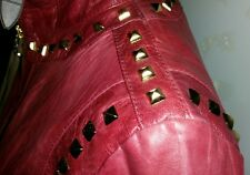 DETAIL 299$.GUARAPO WOMEN'S 2280 STUDDED GENUINE LEATHER JACKET MADE IN ITALY