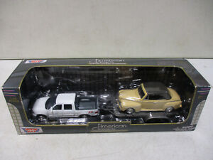 Motor Max American Classics Ford Pickup with Trailer and Ford Deluxe 1/43