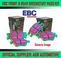 EBC GREENSTUFF FRONT + REAR PADS KIT FOR OPEL VECTRA 2.0 TURBO 2003-04
