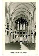 Nave-Riverside Church Interior-New York City-RPPC-Real Photo Vintage Postcard