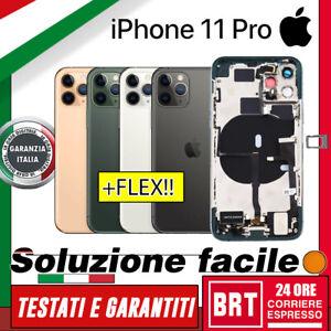BACK COVER SCOCCA POSTERIORE COMPLETA+FLEX TASTI PER APPLE IPHONE 11 PRO VETRO!!
