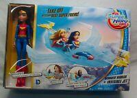 DC Super Hero Girls WONDER WOMAN & INVISIBLE JET Plane Action Figure Toy Set NEW