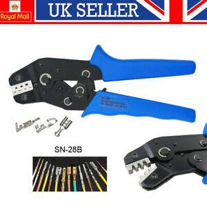 SN-28B Crimp Plier Non-Insulated Terminal Pin Connector Crimper Tool 18-28AWG UK