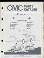 1984 JOHNSON  EVINRUDE 40 COMMERCIAL ENGINES PARTS MANUAL / 394676