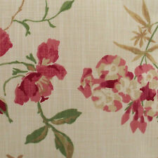 Set of 4 Laura Ashley 9 inch x 9 inch fabric off cuts- Niesha Red Natural