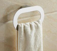 Luxury Chrome Wall Mount  Oval Towel Ring Holder Bathroom Hand Towel Rack Hanger
