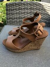 Gorgeous Dune Leather/Cork Wedge Tan Wedges Size 5 (38)