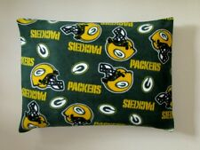 1 NFL GREEN BAY PACKERS STANDARD FLEECE PILLOW CASE- BLACK FLEECE BACK 20X25